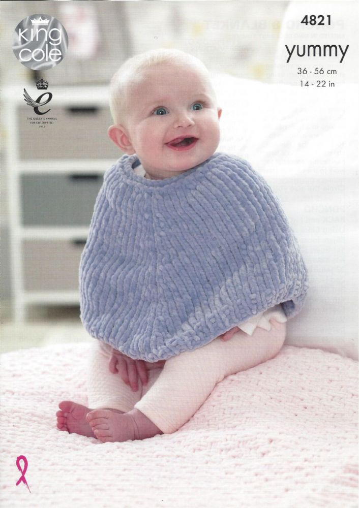 Fine Baby Poncho Knitting Pattern Pictures - Decke Stricken Muster ...